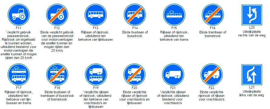 Nieuwe Nederlandse verkeersborden